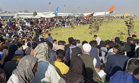 Afghan fleeing