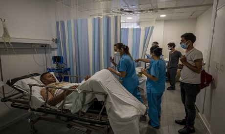 Lebanese man recovering from burns