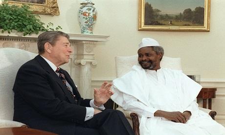 Ronald Reagan and Hissen Habre