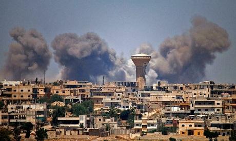 Daraa bombarded