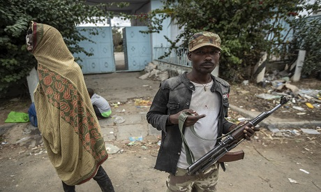Tigray soldiers standing