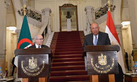 Shoukri and his algerian counterpart