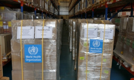 WHO supplies to Afghanistan