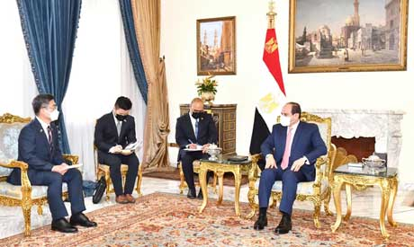 President Sisi and South Korea defense minister