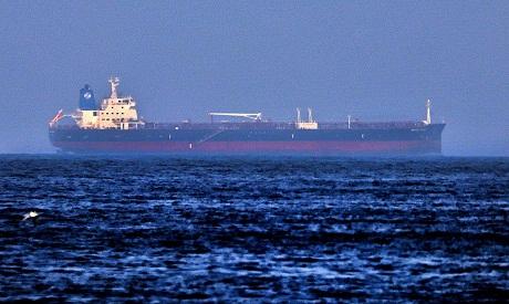 Israeli-linked Japanese-owned tanker MT Mercer Street. AFP