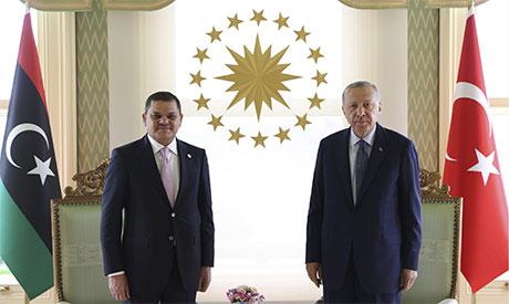 Recep Tayyip Erdogan & Abdul Hamid Dbeibeh