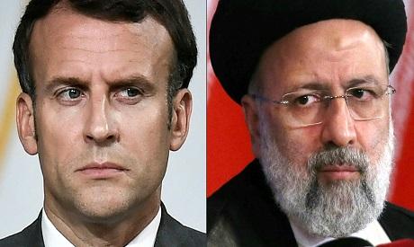 Ebrahim Raisi and Macron