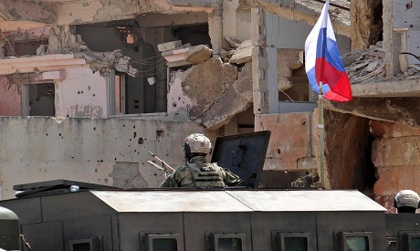 Russian Troops in Daraa, Syria