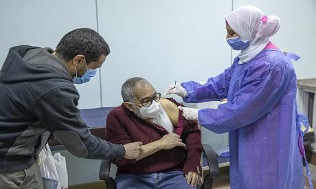 File photo of a man receives the AstraZeneca COVID-19 vaccine at Al-Nozha Hospital in Cairo, Egypt (