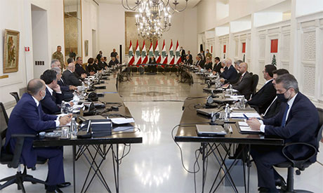 First Lebanese cabinet meeting