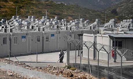 Asylum seekers camp in Greece