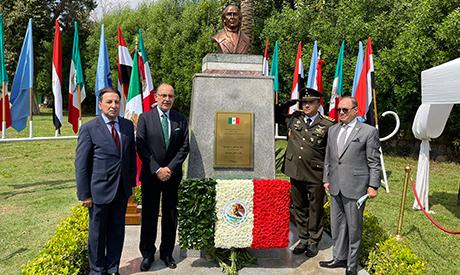 (L-r) Ambassador Ashraf Mounir, Mexican Ambassador Jose Octavio Tripp, Military Attaché Pedro Maxim