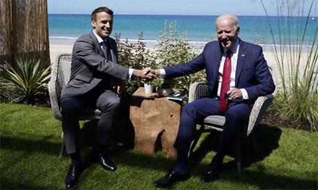 Joe Biden & Emmanuel Macron