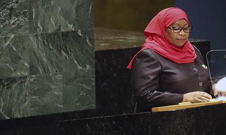 The President of Tanzania, Samia Suluhu Hassan