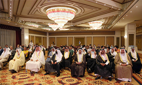 Iraqis attend the conference of peace and reclamation organised by US think-tank Center for Peace Co