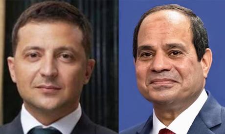 Ukraine's President Volodymyr Zelenskyy and Egypt's President Abdel-Fattah El-Sisi