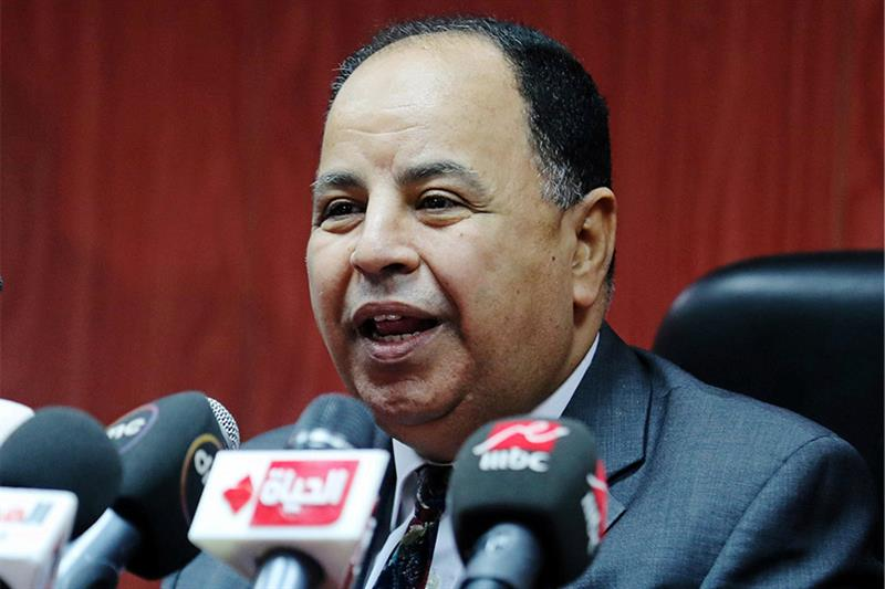 Egyptian Finance Minister Mohamed Maait speaks during a news conference in Cairo, July 5, 2018. REUT