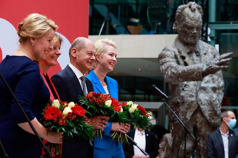 Leaders of of the German Social Democratic SPD party