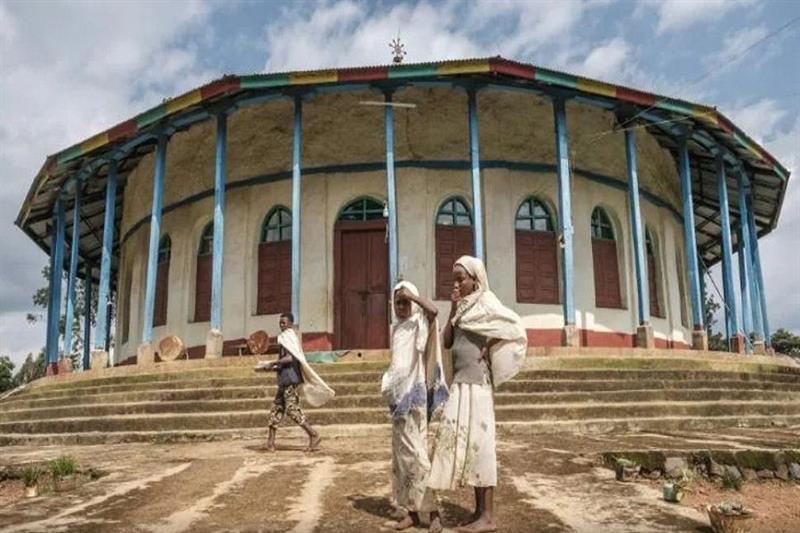 Ethiopian Orthodox devotees