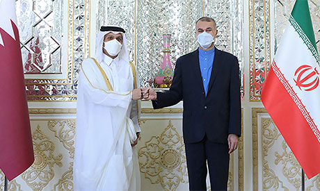Hossein Amir Abdollahian & Mohammed bin Abdulrahman Al Thani
