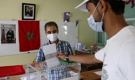 Polling station in Casablanca